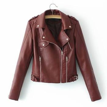 Ruique Women New Arrival Autumn Winter Suede Faux Leather Jackets Ladies Luxury Fashion Matte Rivet Zipper Motorcycle Jackets