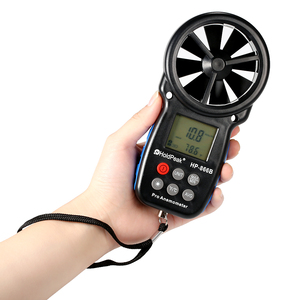 Image 2 - HoldPeak HP 866B Mini LCD Digital Anemometer thermometer anemometro Wind Speed Air Velocity Temperature Measuring with Backlight