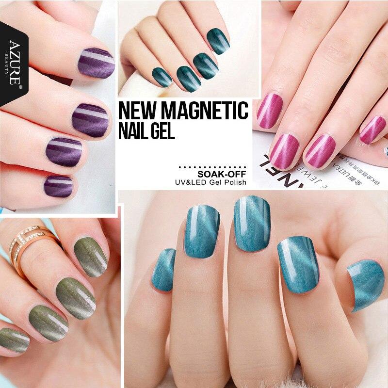 Azure Beauty 1Pcs Magnet UV Gel Color Magnetic Cat Eye Changing Gel ...