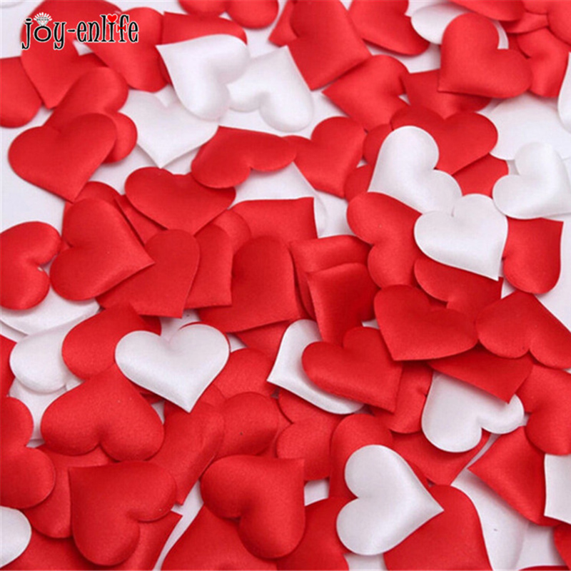 100pcs Fabric Heart table scatter Wedding Party Confetti Table Decoration birthday party font b baby b