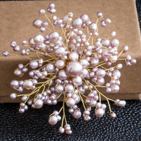 Luxury Baroque Pearl Flower Brooches Accessories for Women Natural Pearl Hand Knitting Brooch Pins Jewelry for Wedding Party