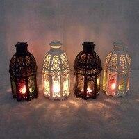 Metal European Wall Hanging Votive Candle Holder Iron Holders Wedding Glass Candlestick Hanging Lantern Home
