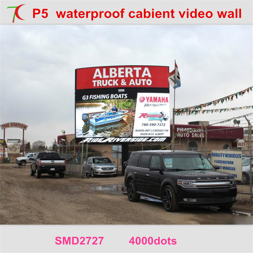 Easy To Install P5 Smd Outdoor Whole Waterproof High-definition Advertisement Display Screen,5500cd,