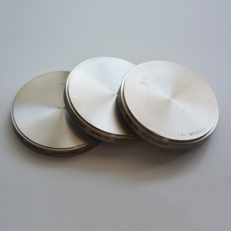 5 pcs/lot 98*22mm matériaux de prothèse dentaire plaque de titane ronde feuille de titane d'alliage dentaire pour système cad cam