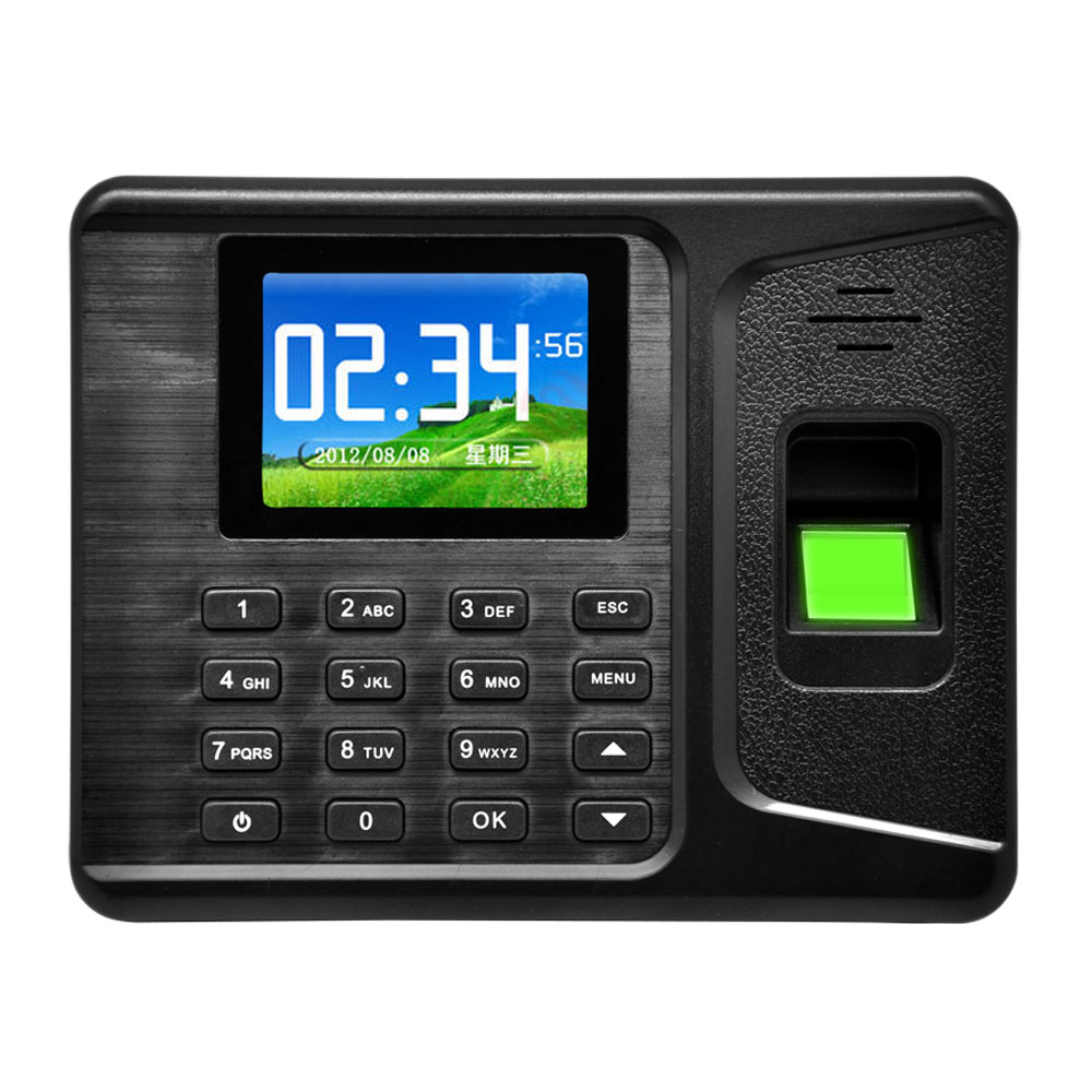 Biometric Fingerprint Time Attendance Clock Recorder Employee Digital Electronic English Spanish Portuguese Voice Reader Machine
