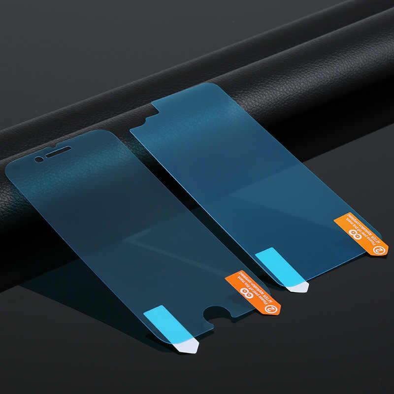 สำหรับ iPhone 6 ป้องกันหน้าจอแก้ว nano ด้านหน้า + ป้องกันหน้าจอสำหรับ iPhone X 7 8 Plus ป้องกันกระจกนิรภัย