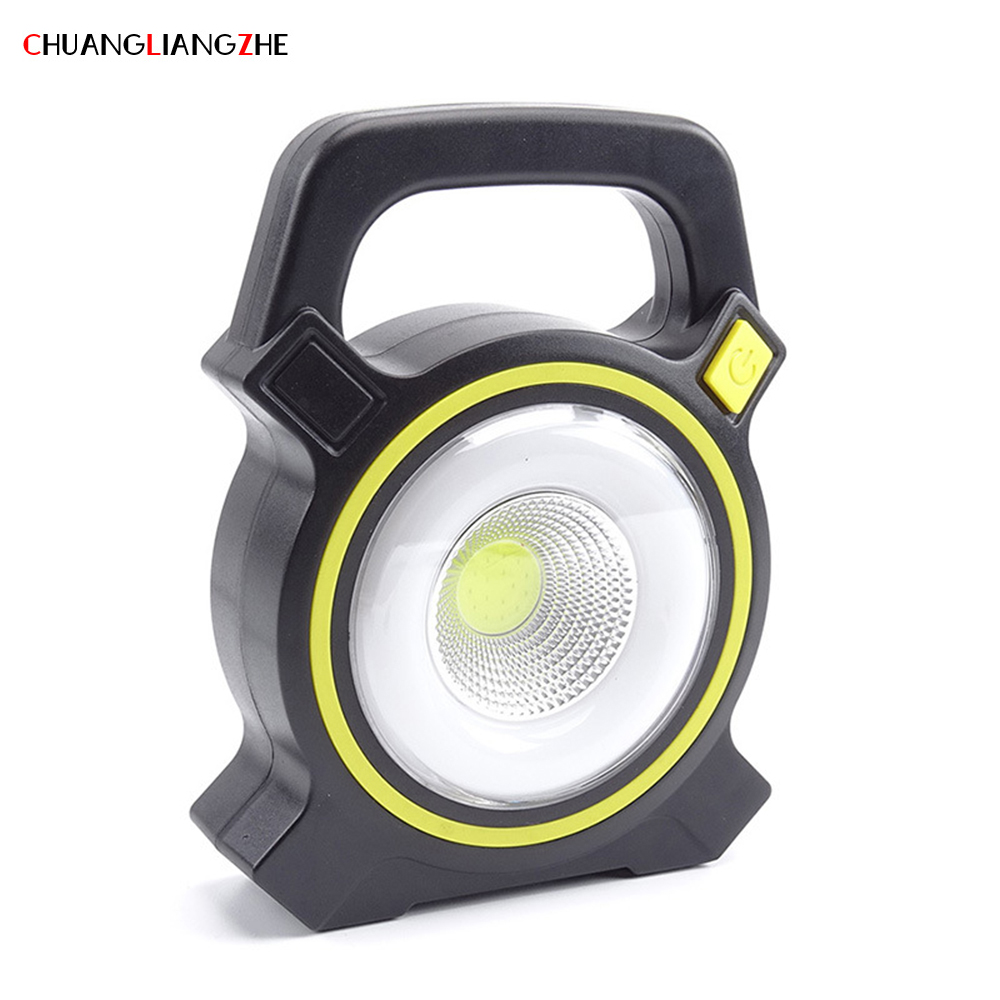 CHENGLIANGZHE Solar Rechargeable Portable Hunting Searchlight Floodlight Portable Outdoor Camping Light Mobile Miners Lamp