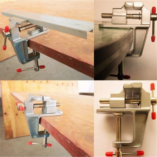 3.5 Inch Aluminum Miniature Small Jewelers Hobby Clamp On Table Bench Vise Mini Tool Vice Muliti-Funcational
