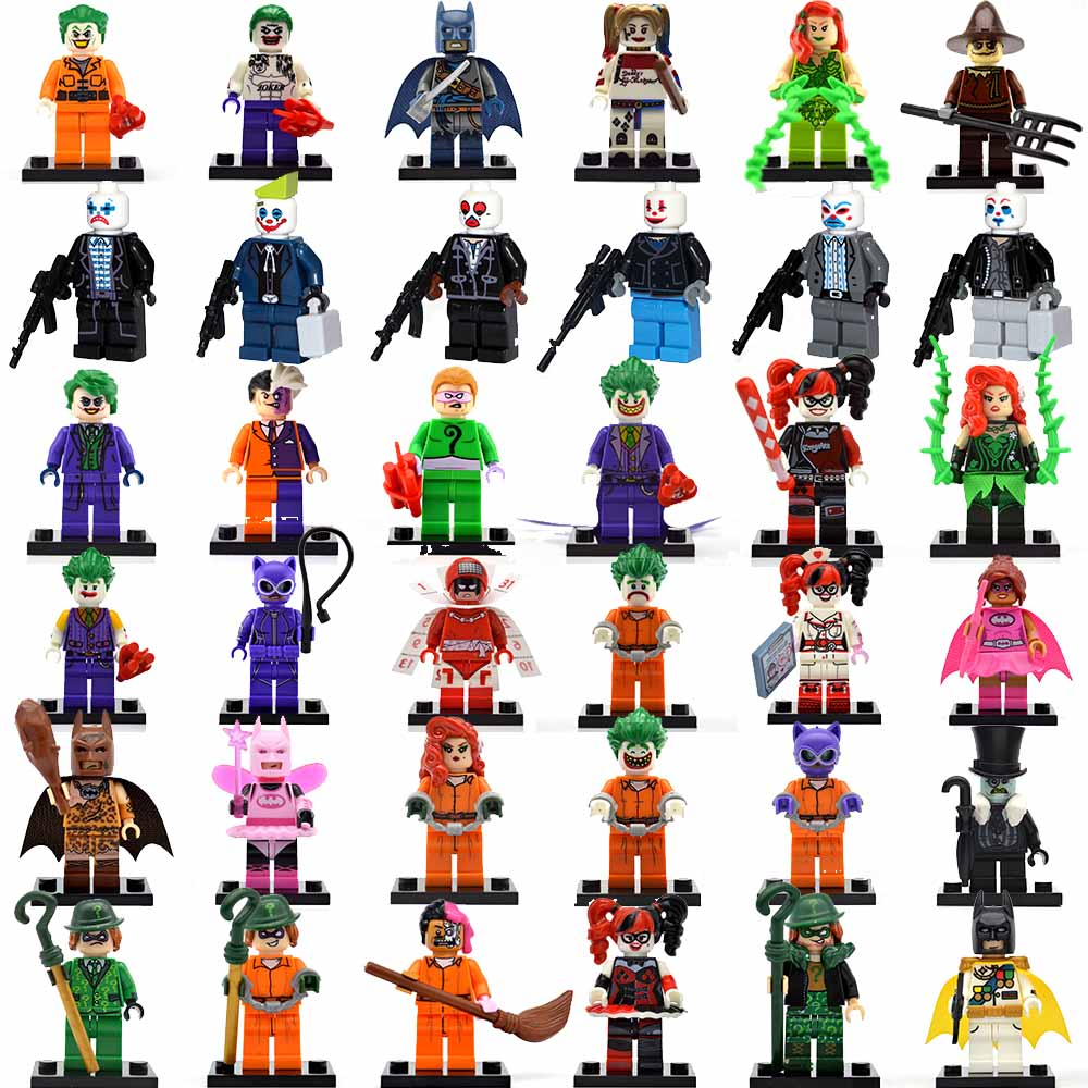 Batman Joker Harley Quinn Mini Action Figures Blocks Plastic Injustice Villains Building Bricks DIY Children Educational Toys