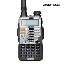 Walkie talkie com rádio baofeng de uv-5re, rádio de banda dupla vhf de duas vias, comunicador de rádio fm vox cb para uv-5r uv-5ra atualização uv5re