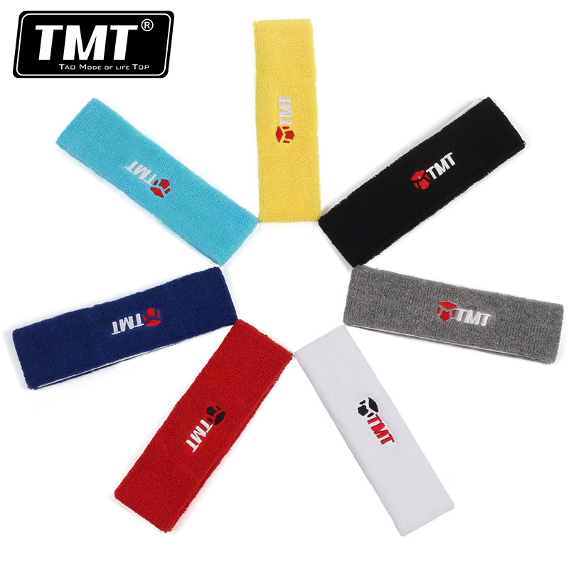 High Quality Cotton Sweat Headband For Men Sweatband women Yoga Hair Bands Head Sweat Bands Sports Safety 20*6cm 7 Colors