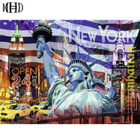 MHD New York Statue Of Liberty Diamond Painting 5d Diy Diamond Embroidery Full Circle Square Diamond