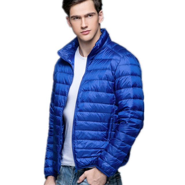 2018 New Men Winter Jacket Ultra Light 90% White Duck Down Jackets Casual Portable Winter Coat For Male Plus Size Down Parkas