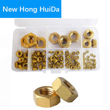 Brass Hex Nut Metric Thread Copper Hexagon Nut Metal Hardware M2 M3 M4 M5 M6 M8 M10 M12 Set Assortment Kit Box 112pcs metric thread din934 m2 m2 5 m3 m4 m5 m6 m8 m10 m12 black grade 8 8 carbon steel hex nut hexagon nut screw nut a2 brand new