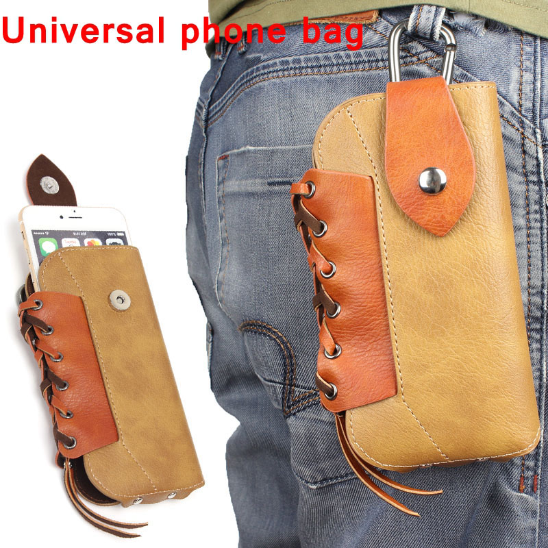 Outdoor Leather Pouch Belt Waist Bag Phone Case Cover For Samsung Galaxy S7 S6 edge S5 S4 S3 S2 iPhone 6 6s plus 5.5 inch below
