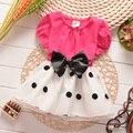 7M-2T Baby Girls Dress Black Dot Black Bowknot Infant Summer Dress for Birthday Party Princess Floral Vestido Infantil