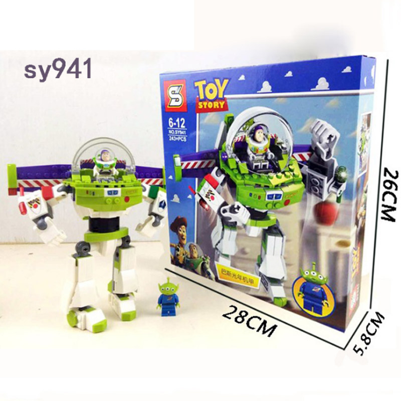 SY941 Toys Story Buzz Lightyear Space Robot Model Building Block Bricks Toys Gift Compatible With Legoings Toys Story игрушка buzz bee toys 16 запасных присосок 41867