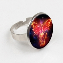 лучшая цена GDRGYB 2019 Starry Sky Beast Phoenix Constellation Twelve Gold Saint Seiya Glass ring Children's Classic Comic Memory Gift