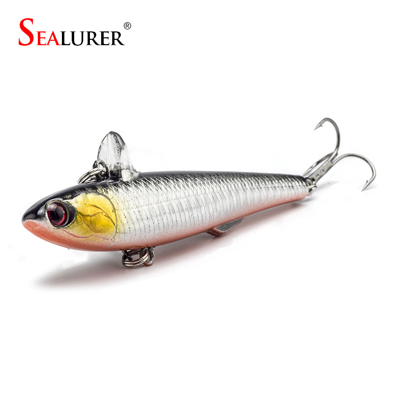 SEALURER 14.5g 9cm Winter Fishing Hard Bait VIB With Lead Inside Ice Sea Fishing Tackle Diving Swivel Jig Pencil Wobbler Lure brand new 1pcs winter fishing lures hard bait vib with lead inside lead fish ice sea fishing tackle swivel jig wobbler lure best