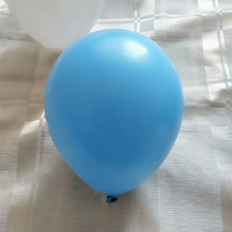 Light blue balloons 100pcs lot 5 inch 1 2g round small latex white ballon baby shower decoration boy baloons birthday supplies in Ballons Accessories from Home Garden