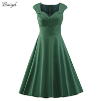 2015 Womens Summer Vintage Dress Audrey Hepburn 1950s 60s Retro Style Pinup Rockabilly Swing Ball Gown