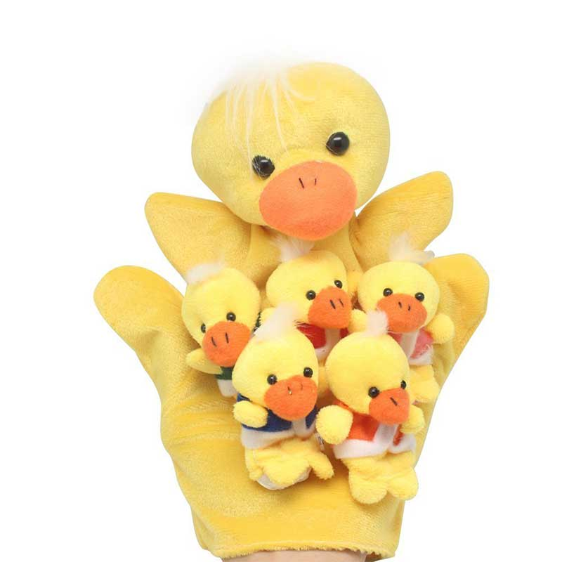 Hand-Finger-Puppets Tale Animals Christmas-Gift Story Telling Five-Little-Ducks Nursery
