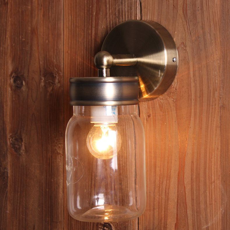 Country Style Brief Gl Bottles Wall Lamps Modern Fashion Bedroom Bedside Balcony Art Deco Lights In Led Indoor From Lighting On
