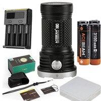 ACEBEAM X80 ручной фонарик 12 * CREE Луч расстояние с батареей 18650 и nitecore I4 зарядное устройство