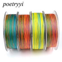 POETRYYI 100M Fluorocarbon Fishing Line multicolor 6-100LB Carbon Fiber Leader Line fly fishing line pesca 30 angler dream 3 5wt fly fishing combo 24sk carbon fiber fly rod and 3 4 5 6wt fly reel floating fishing line backing leader