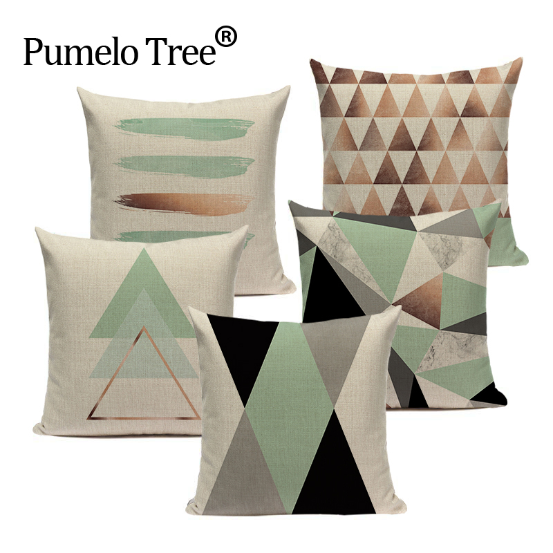 Big Deal Geometric Tropical Pillow Cushion Teal Blue Pillows Impressive Brown And Turquoise Decorative Pillows