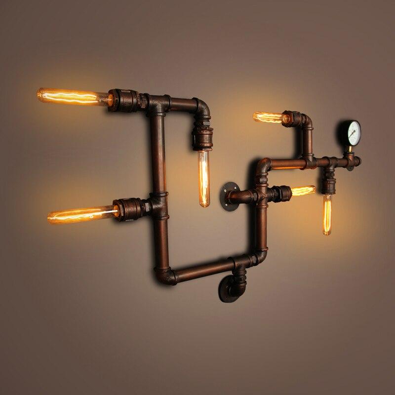 Apliques de pared 6 luces Mini lmpara de pared de estilo E26 E27