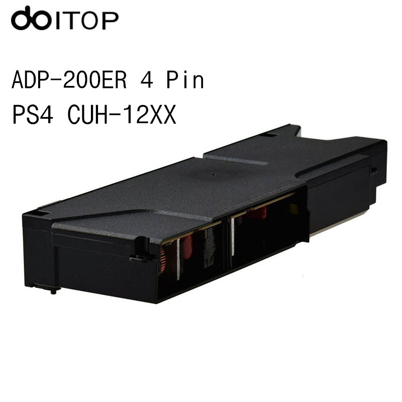 DOITOP Power Supply ADP-200ER N14-200P1A 4 Pin Power Adapter for PS4 CUH-12XX CUH-1215A Console Internal Power Supply Adapter C4 alloyseed replacement adp 240cr 4 pin power supply unit module adapter for sony playstation 4 ps4 cuh 1100 series