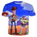 Новинка женщины / мужчины , идущие игрушки 3d tshirt история игрушек печать футболка свободного покроя забавный мультфильм базз лайтер 3d футболка