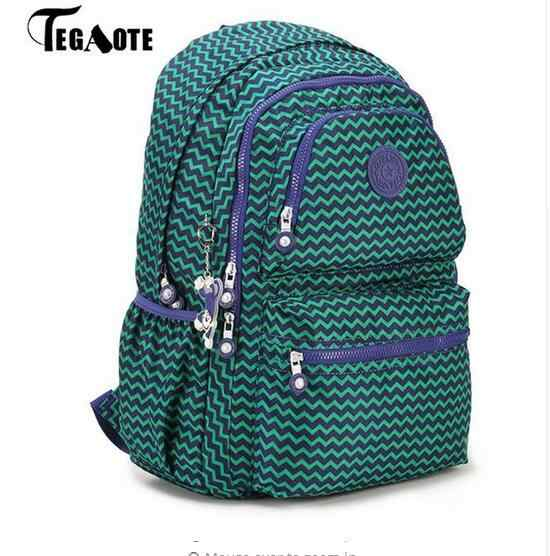 2017 TEGAOTE School Backpack for Teenage Girls Nylon Casual Mochila  Feminine Backpacks Women Solid Famous Laptop 6584a78fdce6e