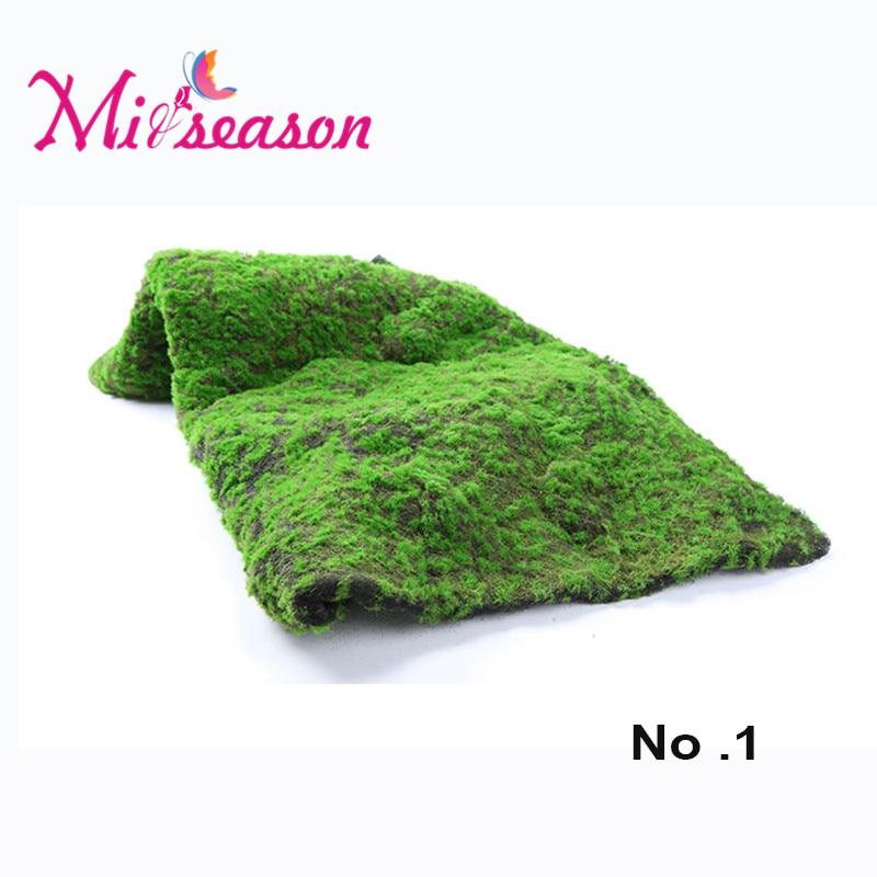 1 M * 1 M mousse herbe pelouse gazon Micro paysage bricolage artificiel maison aménagement paysager décoration murale Mini fée jardin Simulation plantes