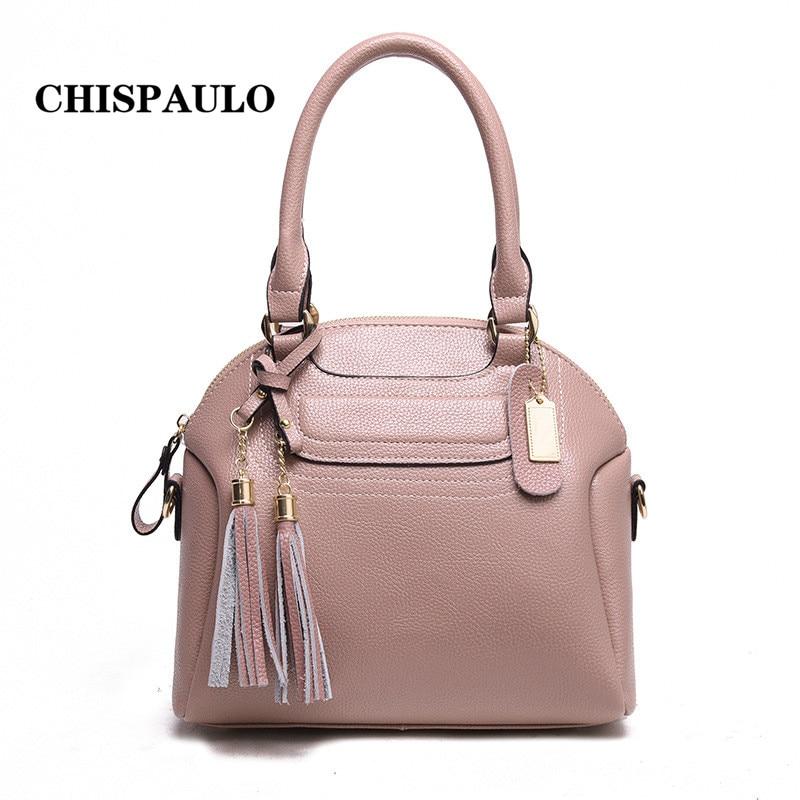 CHISPAULO Women famous brand bags pu Leather handBags vintage bag High capacity pouch shoulder bag lady Handbag Bolsas X40