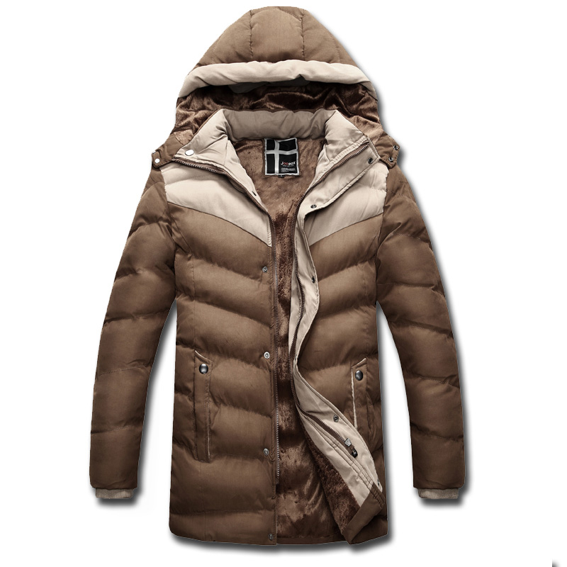 Men Warm Jacket And Coats Snow Winter Thick Hooded Slim Fit Down Wadded Parka Brand Design Casual Cotton Outwear SL-E436