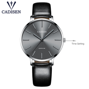 Image 3 - Nuovo 2021 CADISEN Leisure Quartz Thin Women Watch Luxury Brand Dress Ladies orologio in acciaio inossidabile orologi impermeabili ultrasottili