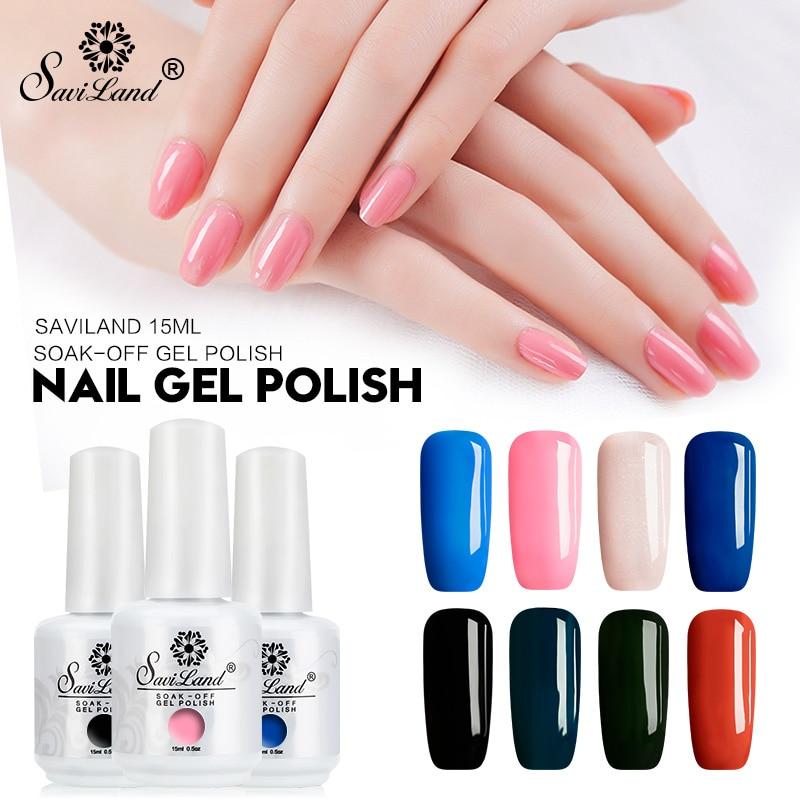Saviland 15ml Uv Gel Nail Polish Glitter 58 Colors Nail Gel Varnish Soak Off Gel Lacquer Long Lasting Nail Art Gel Vernis