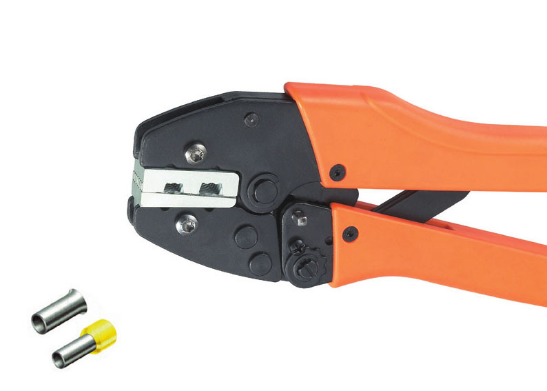 Ratchet crimping plier 35,50mm2  AWG2-0 Dedicated cable connector crimping tool mini small ferrules tool crimper plier for crimping cable end sleeves from 0 25 2 5mm2