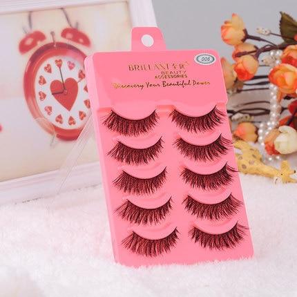 3D Mink hair eyelashes 100% natural minkfur false eyelashes hand made natural long eyelashes extensions  Free shipping
