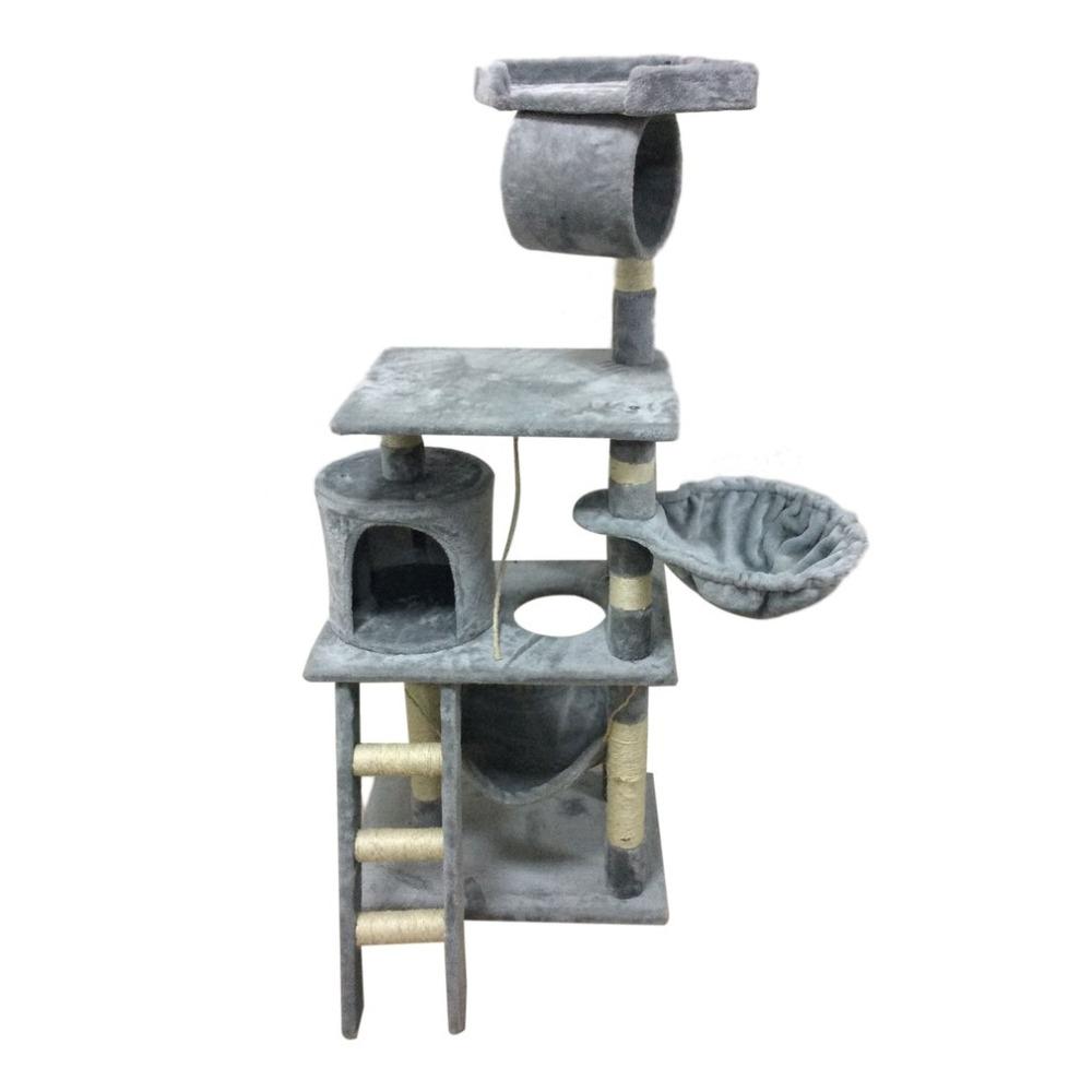 Three Layers Cat Climbing Tree Condo Scratcher Furniture Kitten House with Scratching Post Toys