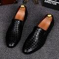Zapatos de los hombres de Nueva Marca de Lujo de Estilo Italiano Oxfords Zapatos de Cuero Genuinos de Conducción Casual Mocasines Para Hombre Mocasines Zapatos de Fiesta