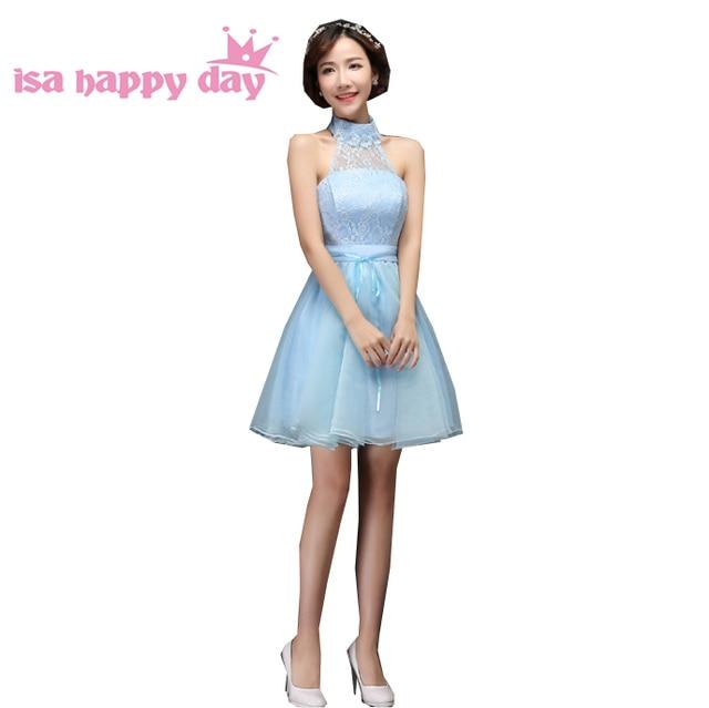 Халаты de soiree 2019 элегантный для женщин Короткие Формальные светло голубой Вечерние платья Кружева праздничное платье Бальные платья для вечерние H3507
