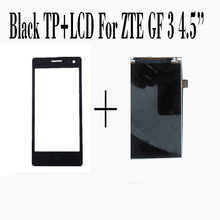 "100% New Touch Screen+LCD Display For ZTE Blade GF3 4.5"" Screen Digitizer Glass Sensor Panel Black Smartphone Repairtment"