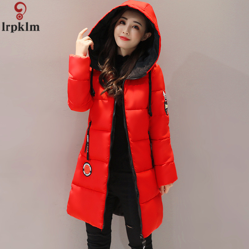 Women Winter Jacket Coat Long   Parka   Hooded Collar Coat Women Padded Winter Coats Female 2018 New Thick Warm Coat M- 3XL AS05