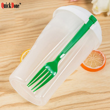 Container Salad-Tools Serving Vegetable Quickdone with Fork-Set Fruit Outdoor Sport-Diet