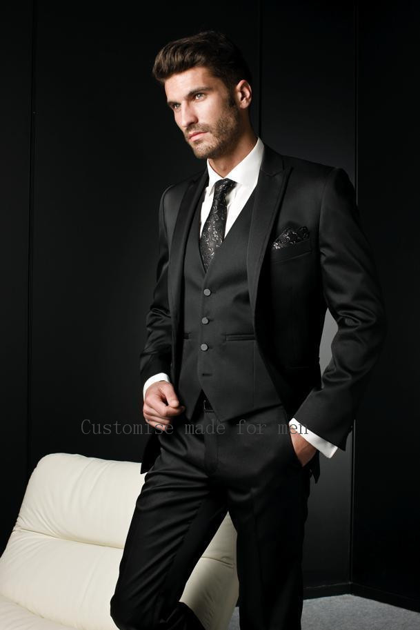 Popular Black Suit Men-Buy Cheap Black Suit Men lots from China