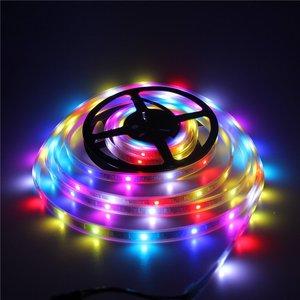 Image 3 - 50 M 10X5 M 60 LEDS/M 300 LEDs SK6812 WS2812B Individualmente Endereçável 5050 RGB LED Strip luz LED Pixel Lâmpada Flexível