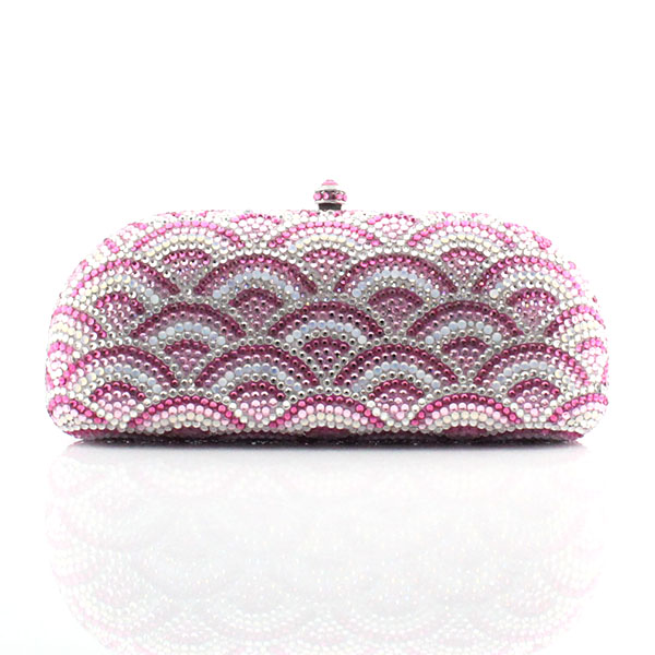 New jeweled clutch Wedding Bridal purse Luxury Diamond Evening Bags Lady Pink clutch Women Crystal Party Bags (1013-PR ) top quality luxury crystal evening clutch women wedding purses lady dinner party shoulder bags pink